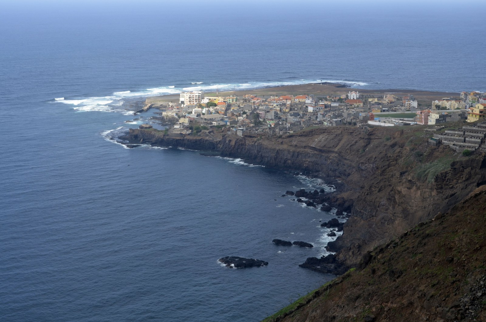 Blick auf Ponta do Sol auf Santo Antao