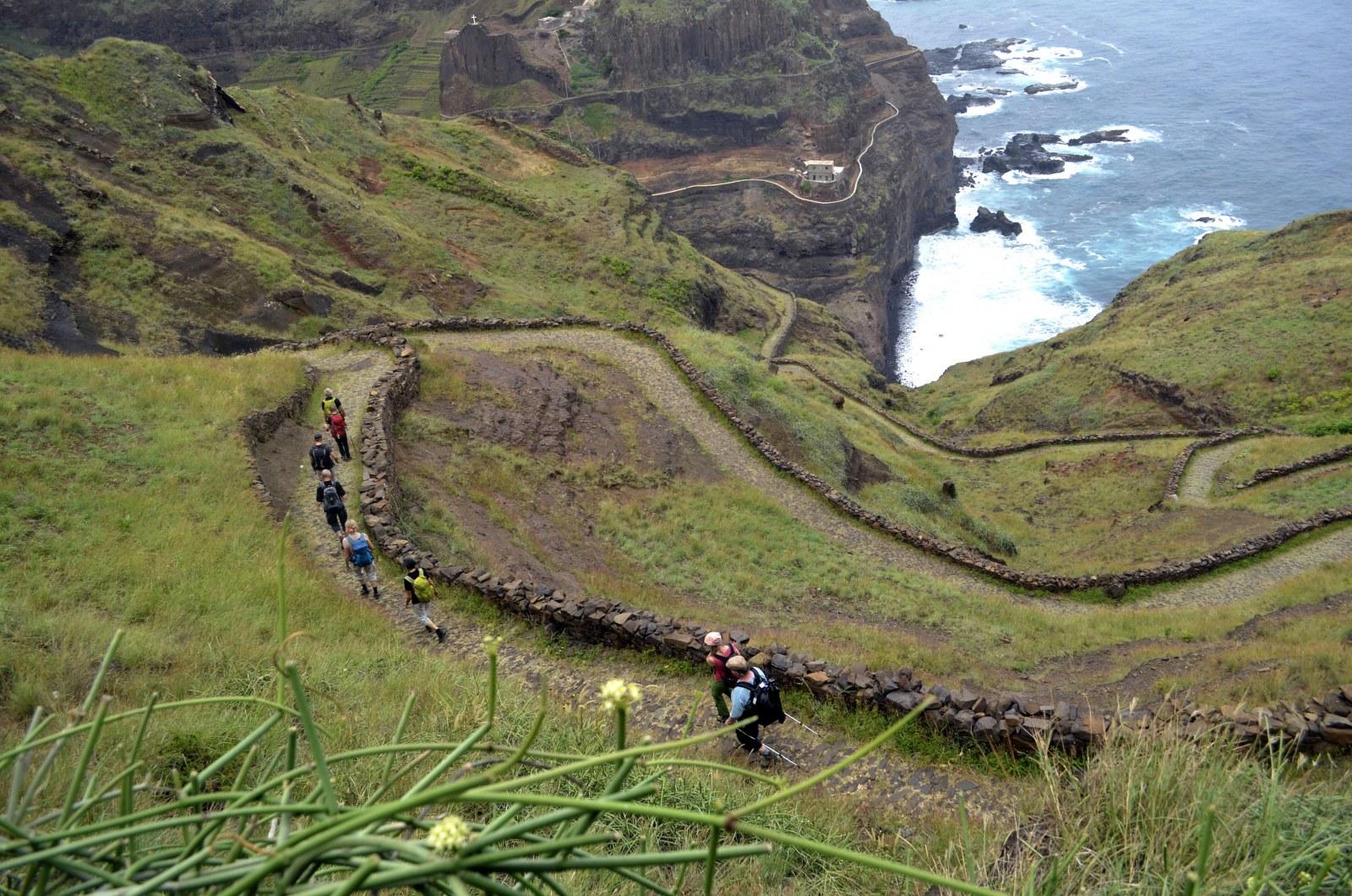 Santo Antao: Küstenwanderung von Ponta do Sol über Fontainhas nach Cruzinha da Garça